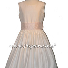 Baby Pink and White Flower Girl Dresses