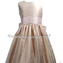 Ballet and Petal Pink flower girl dress Style 398