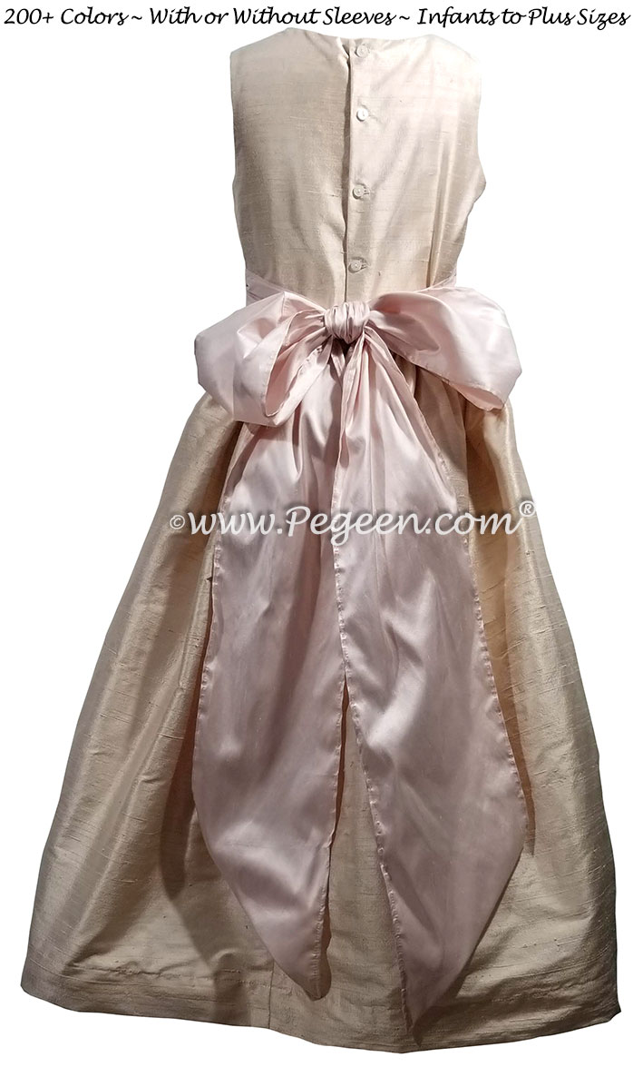 Ballet and Petal Pink flower girl dress Style 398