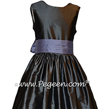 Custom Gray and Periwinkle Girl Dresses