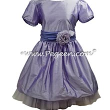 Lilac and Periwinkle flower girl dress with tulle