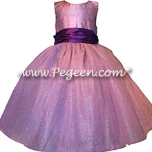 Amethyst Purple and Deep Plum Custom Silk flower girl dresses