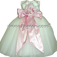 Bubblegum Pink Silk infant flower girl dresses