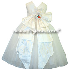 Easter Dress with bunnies - white tulle flower girl dresses | Pegeen