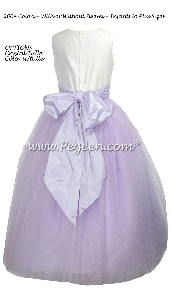 Lilac and Lavender silk and tulle Cotillion dress