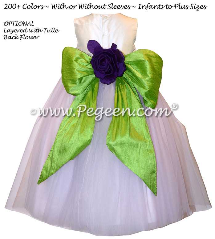 Light Lavender Tulle Infant Flower Girl Dress with layers and layers of tulle