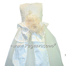Bustled White Pearled Bodice First Communion Dresses Style 370 | Pegeen