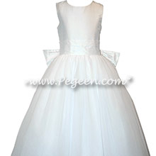 White tulle first communion dresses