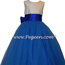 Sapphire blue silk Degas ballerina Style 402