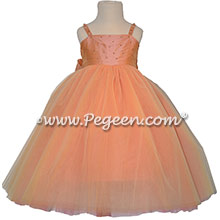 Sunset Flower Girl Dresses with Swarovski Crystals