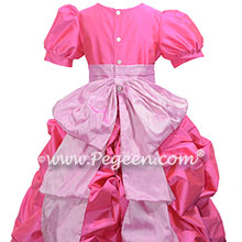 Shocking Pink and Rose Pink Flower Girl Dresses with Cinderella Sash