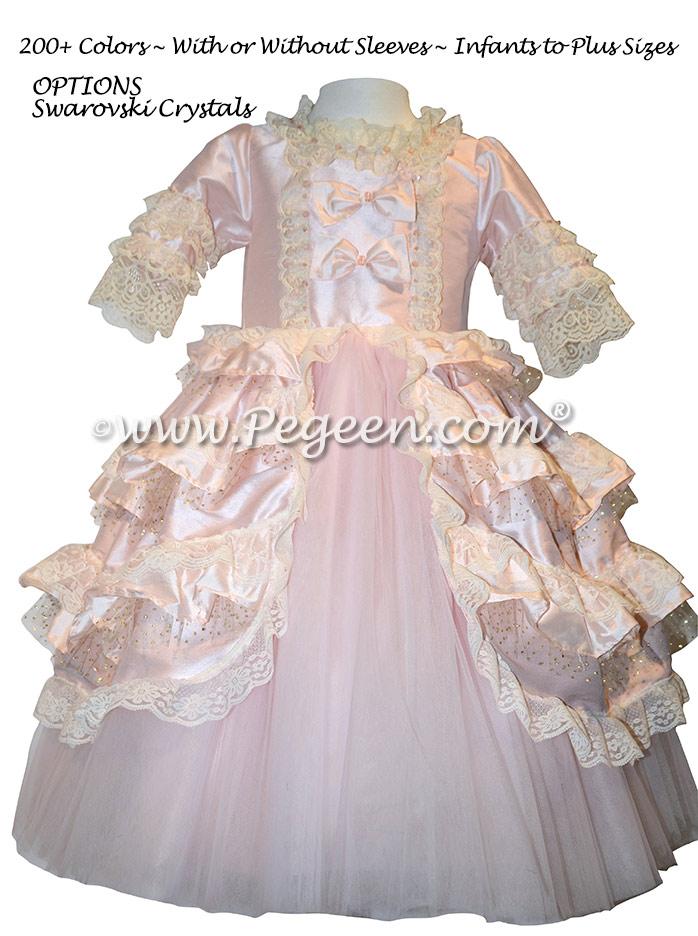 Special Marie Antoinette Silk flower girl dresses used for the Nutcracker