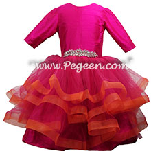 Bat Mitzvah Hot Pink and Orange Dress Style 435