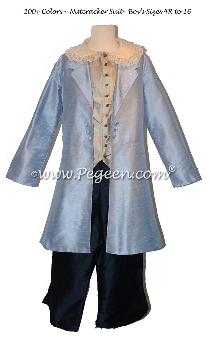 Boy's Ring Bearer or Nutcracker Suit Style 598 with Long Top Coat