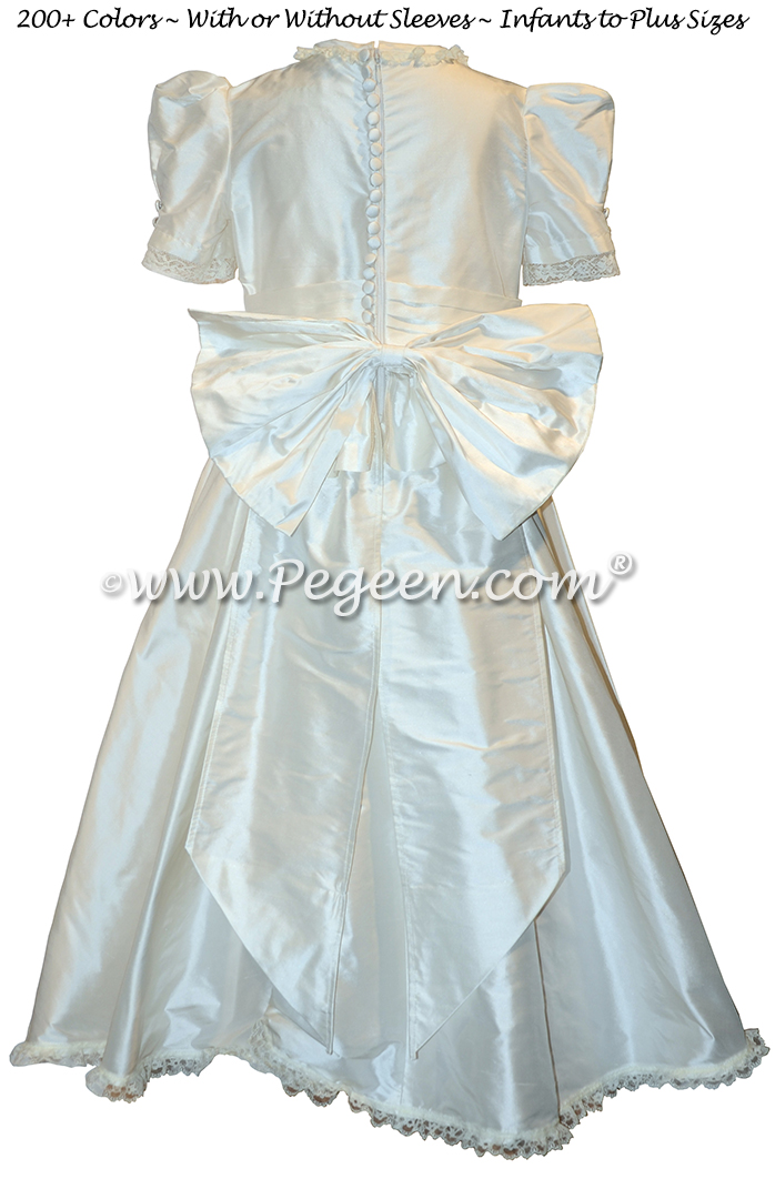 Princess Kate Flower Girl Dress in New Ivory - Style 601