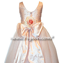 Swarovski Crystals and Pink Tulle and silk couture flower girl dresses