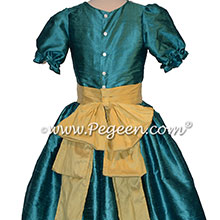 Juniper Teal and Lemonade Yellow nutcracker costume or dress