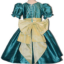 Nutcracker Party Scene Dress in Juniper and Spring Green Style 701