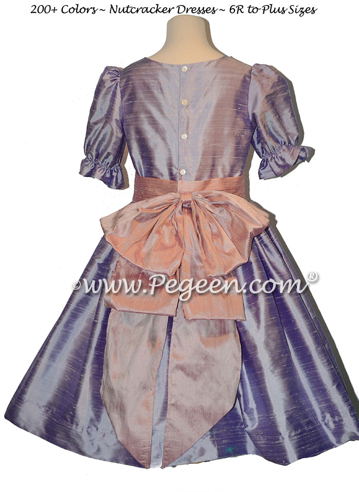 Lilac and Rose Pink nutcracker, Clara or Christmas Holiday Flower Girl Dresses