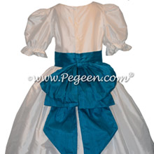 Mosaic Teal and White Silk Nutcracker Silk Costume