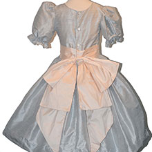 Nutcracker Party Scene Dress in Light Grey and Pink Style 701