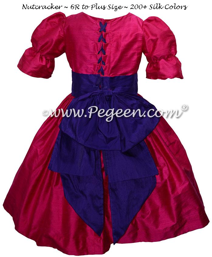 Nutcracker Dress in Raspberry and Royal Purple Style 701