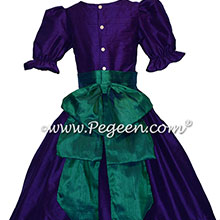 Royal Purple and Holiday Green Custom Silk Nutcracker Costume or Dress
