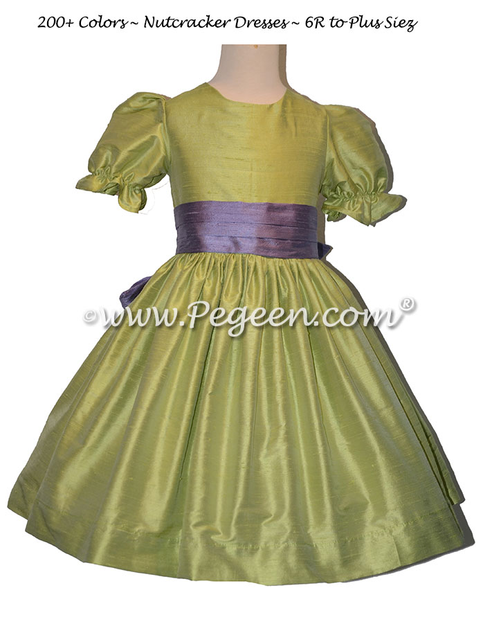 Apple Green and Periwinkle nutcracker, Clara or Christmas Holiday Flower Girl Dresses