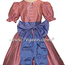 Nutcracker Party Scene Dress in Periwinkle and Pink Style 701