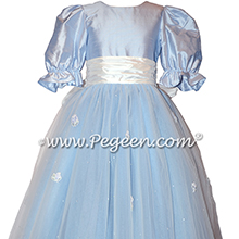 Cloud Blue Flower Girl Dress - Style 702 | Pegeen