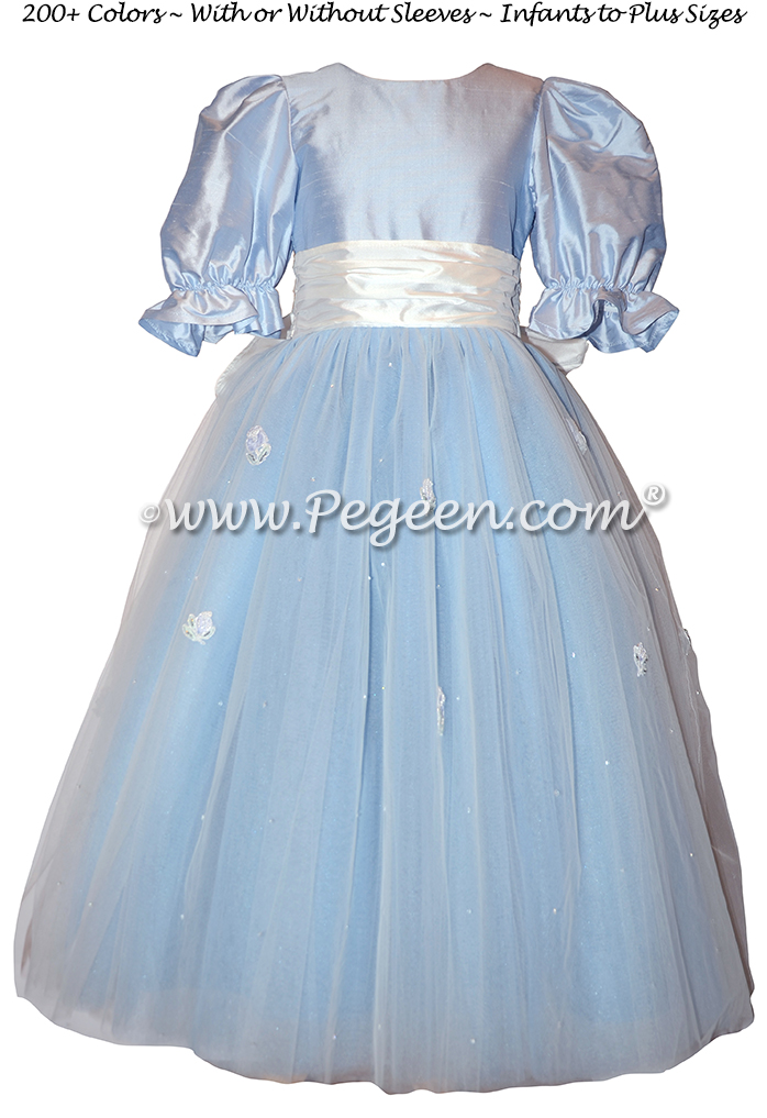 Cloud Blue Sugar Plum Fairy Flower Girl Dress - Style 702