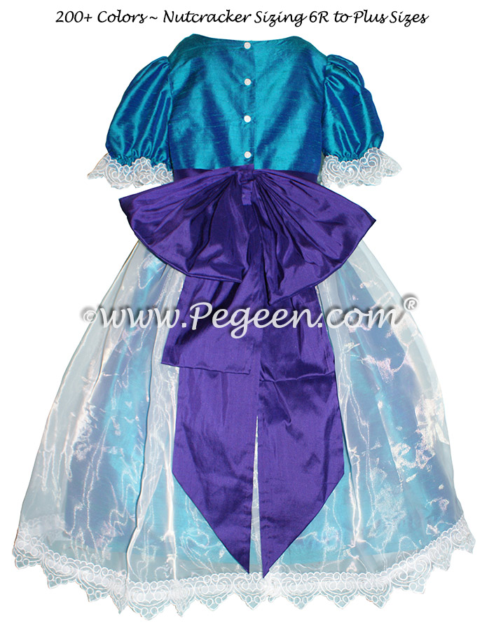 Purple and Peacock Blue Nutcracker Party Scene Dress Style 703 by Pegeen