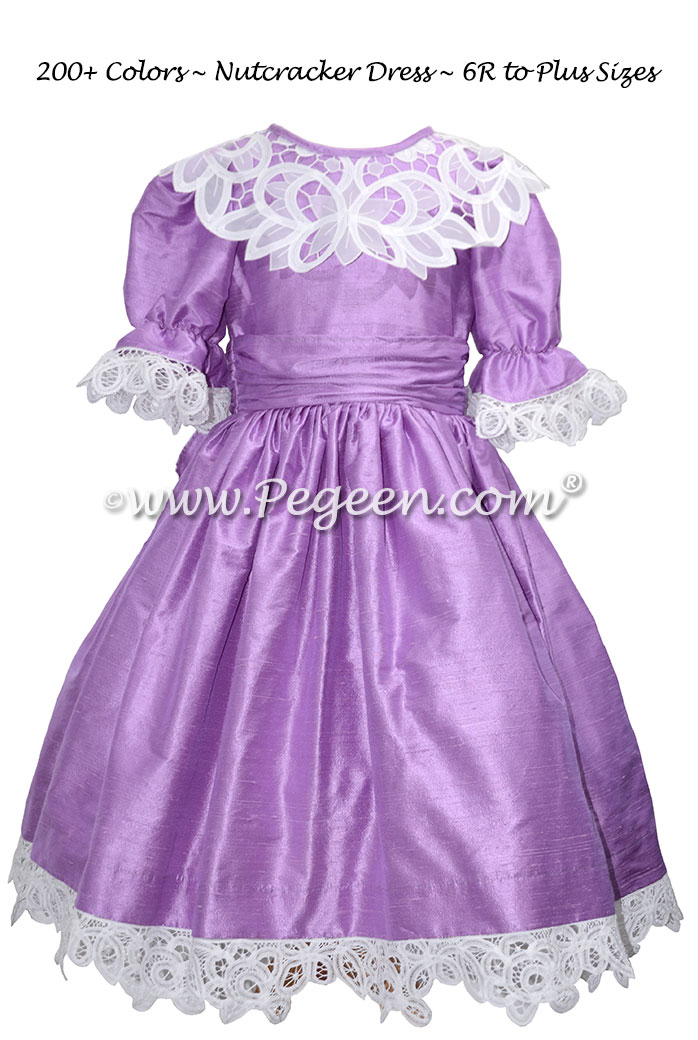Amethyst purple Clara or Party Scene Costume for Nutcracker Ballet
