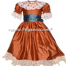 Autumn Orange and Blue Spruce Nutcracker Party Scene Dress