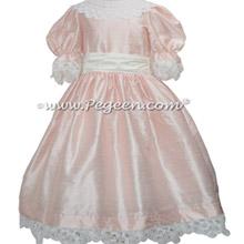 Battenburg Lace in Baby Pink Silk Nutcracker Party Scene Dresses Style 708 | Pegeen