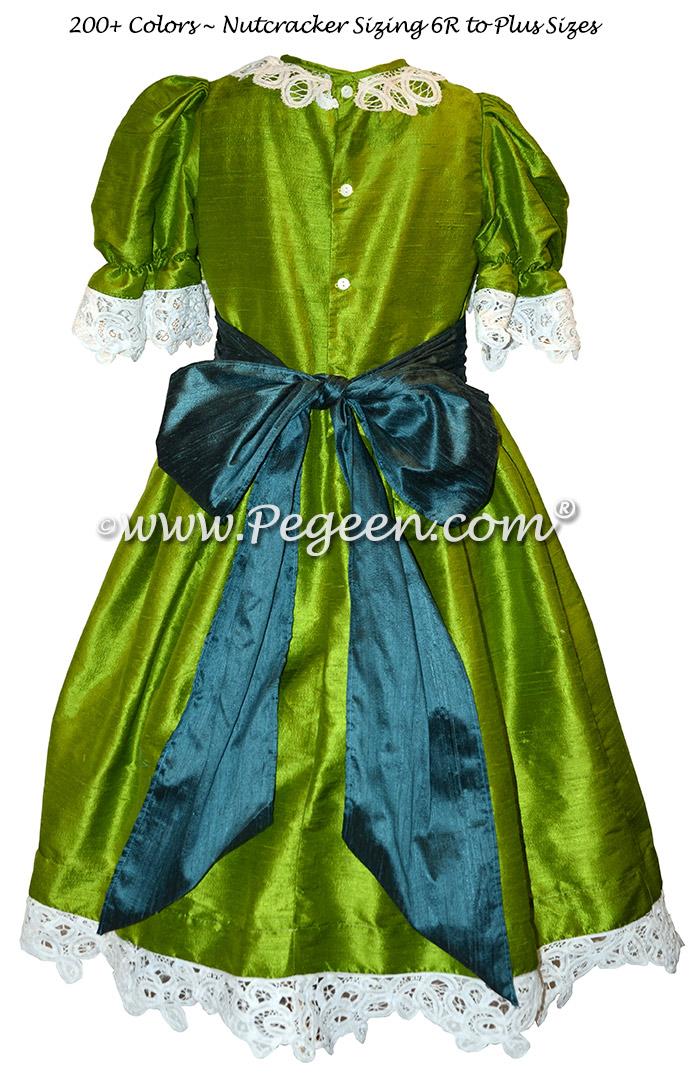 Grass Green and Juniper Blue Nutcracker Ballet Party Scene Dresses - Style 708