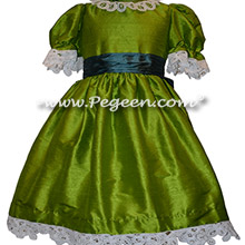 Grass Green and Juniper Blue Nutcracker Ballet Party Scene Dresses