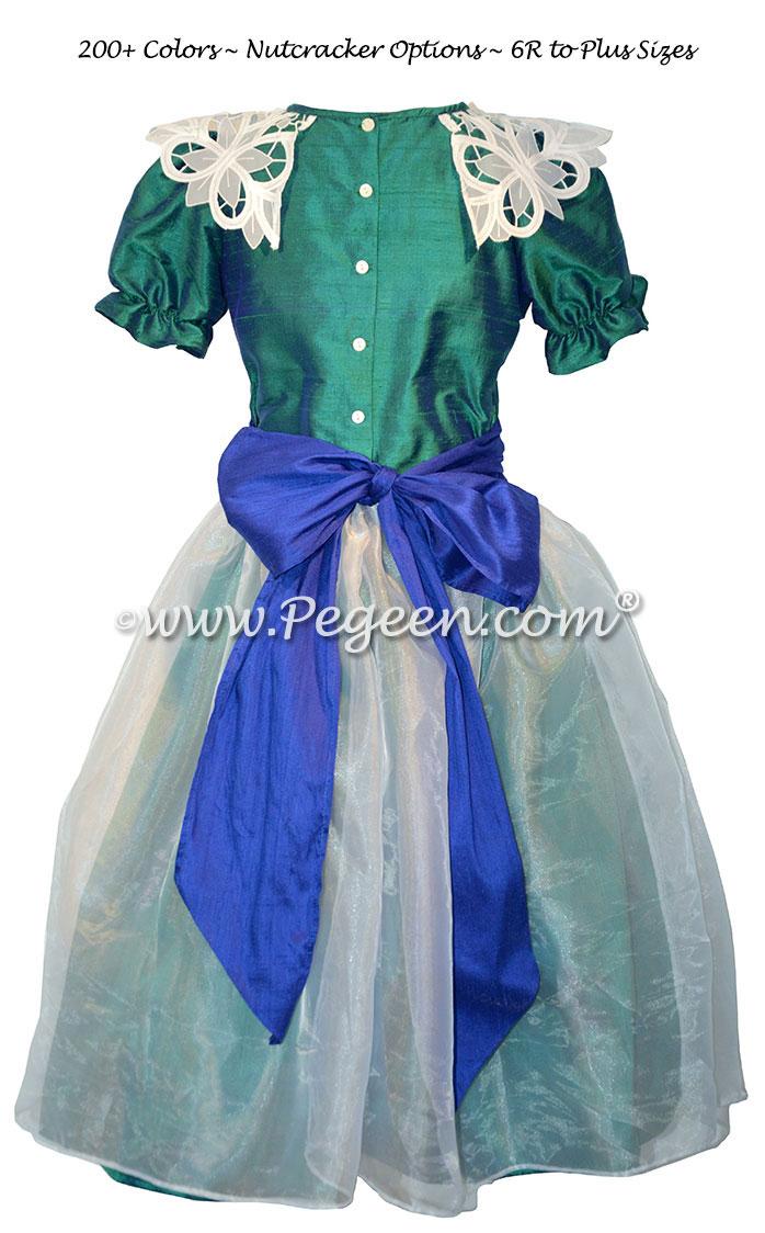 Custom Holiday Green and Sapphire Blue Nutcracker Dresses Style 718
