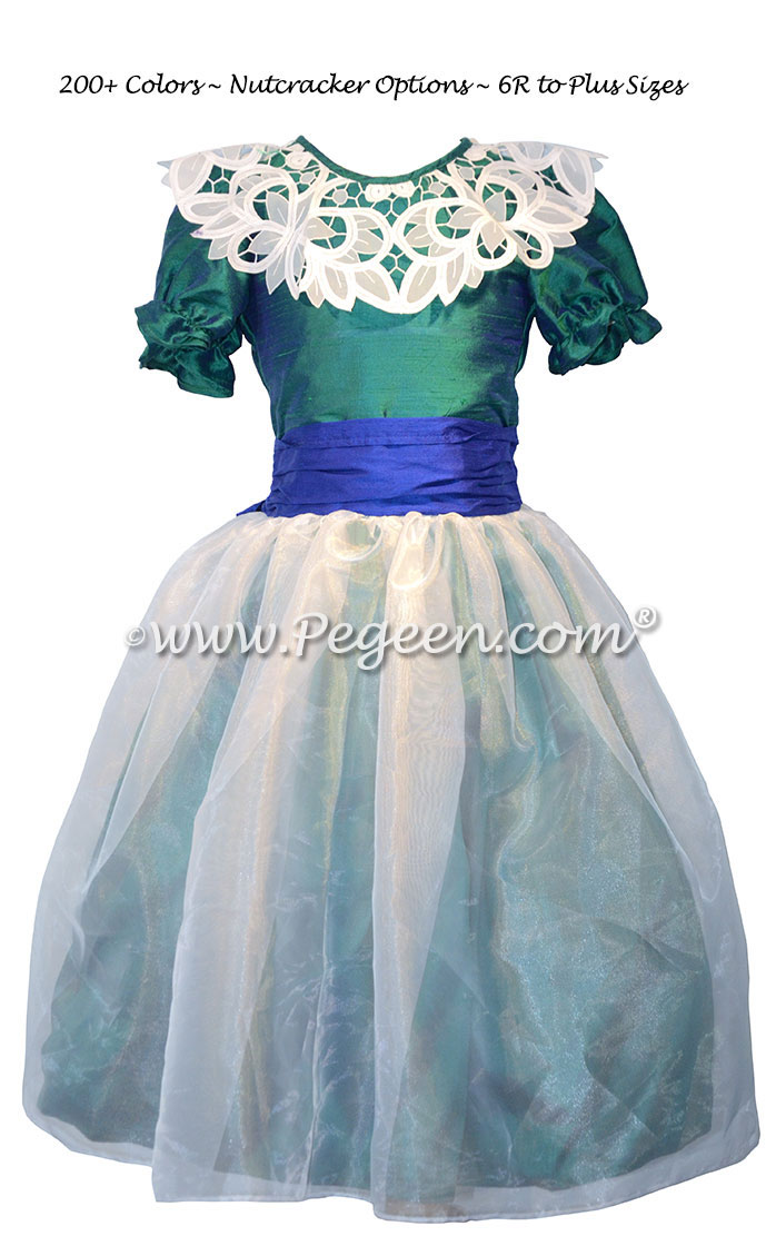 Custom Holiday Green and Sapphire Blue Nutcracker Dresses Style 718
