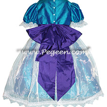 Purple and Peacock Nutcracker Ballet Party Scene Dresses