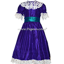 Peacock Blue and Royal Purple Clara Nutcracker Party Scene Dress | Pegeen