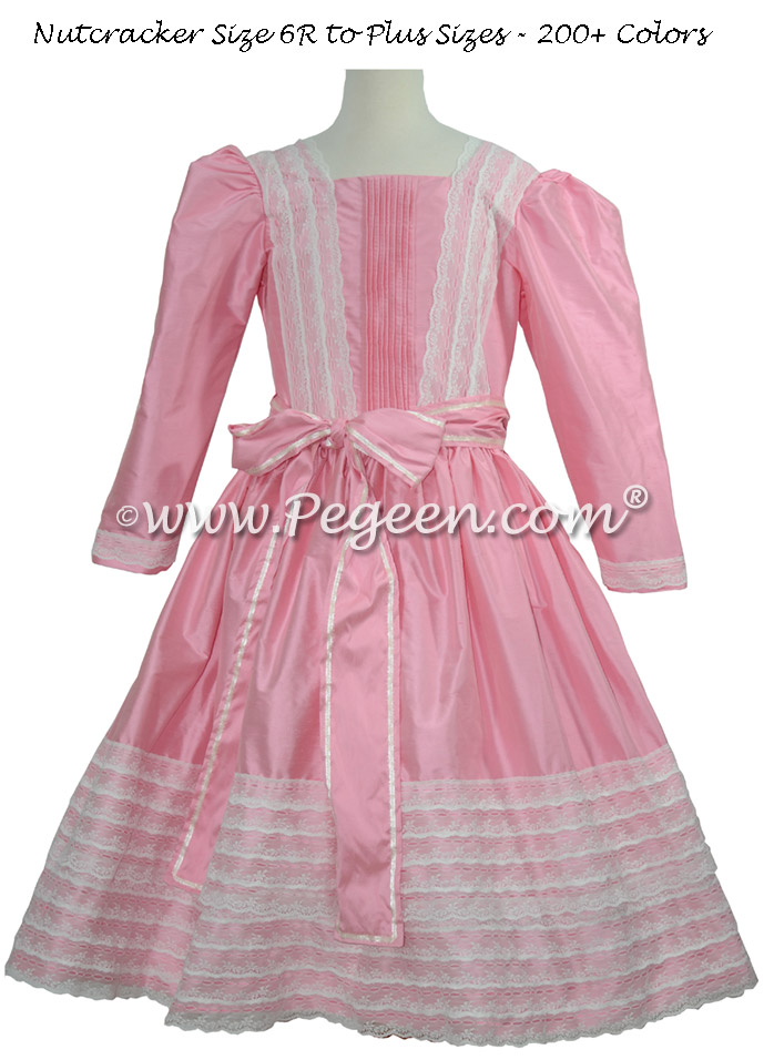 Gumdrop Pink and Lace Clara Nutcracker Party Scene Dress by Pegeen