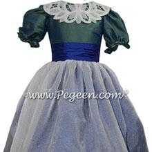 Custom Jade Green and Sapphire Blue Nutcracker Dress Style 718