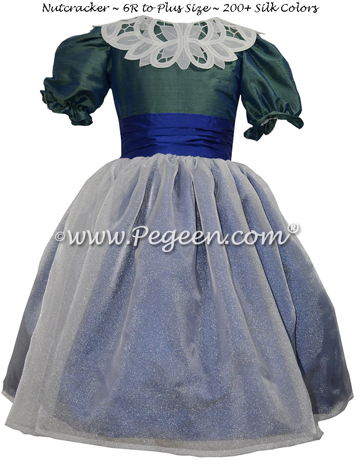 Custom Jade Green and Sapphire Blue Nutcracker Dress Style 718 | Pegeen