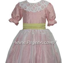 Citrus Green and Rum Pink Silk Custom Nutcracker Dress Style 718