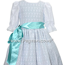 White and tiffany blue dress for Clara in The Nutcracker Ballet