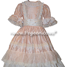 Nutcracker - Holiday Dress Style 723 CLARA MULTI RUFFLE DRESS in Ivory and Pink