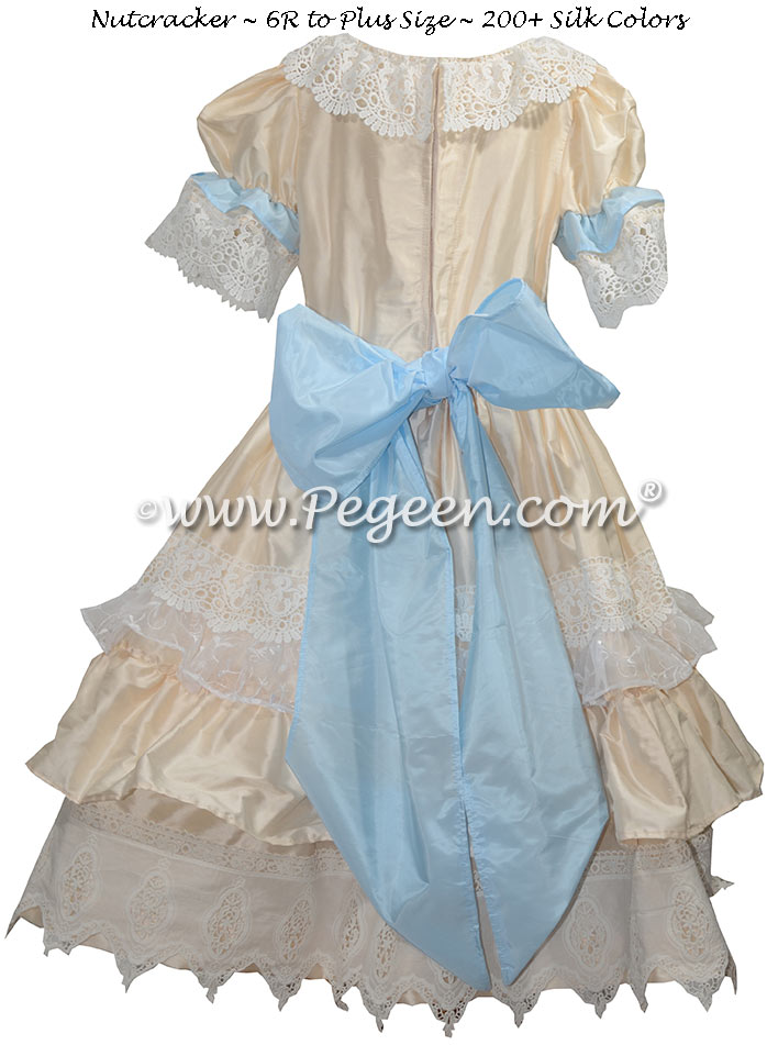Baby Blue and Creme Nutcracker Dress Style 723