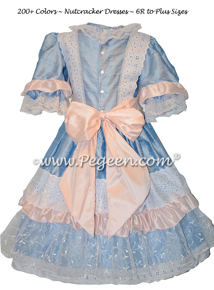 Pink and Denim Blue Nutcracker or Clara Dresses