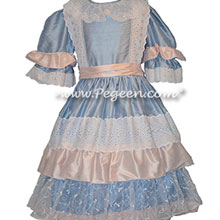 Nutcracker Party Scene Dress in Blue and Pink Style 723